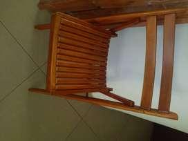 Sillas de madera plegable