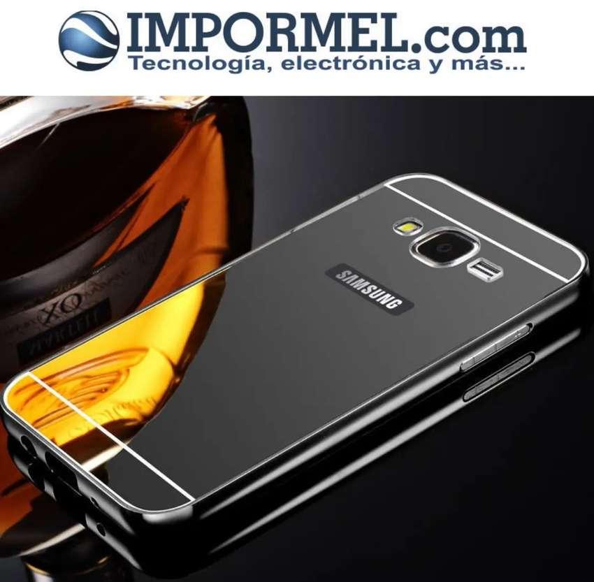 Estuche Carcaza Samsung S7 Edge Aluminio Espejo 0
