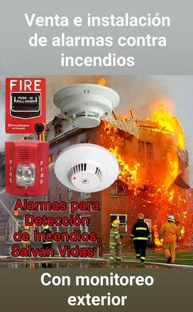 Venta e instalación de alarmas contra incendios