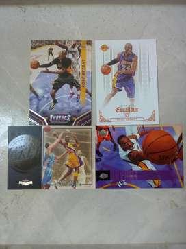4 Tarjetas de Baloncesto Kobe Bryant