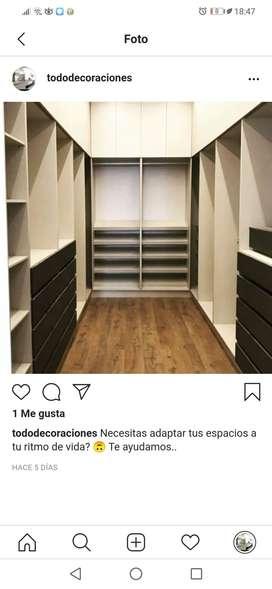 Diseño y Elaboración de armarios, Muebles para TV, Muebles para baño, cocina. Artículos Decorativos.