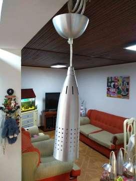 lampara colgante cilindrica metalica