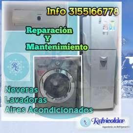 Instalación, reparación y mantenimiento de Lavadoras, Neveras y Aires Acondicionados