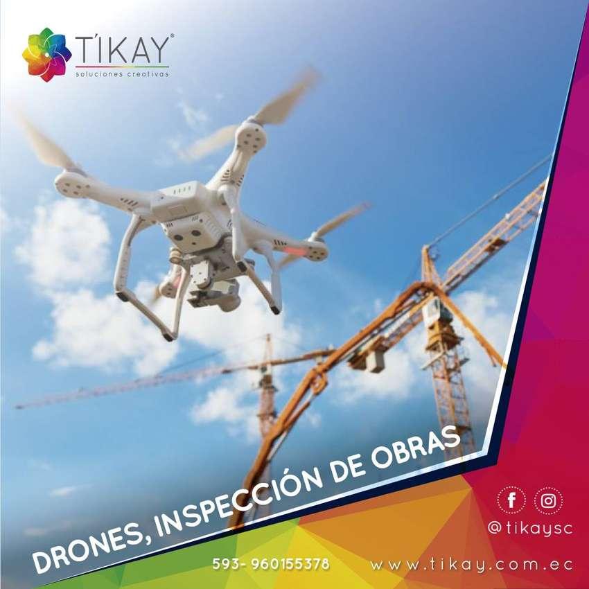 Drones, inspecciones aéreas de avances de obra, alquiler de drones,  videos drones, fotos drones