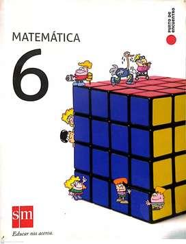 Libro Matemática 6 (Editorial SM) serie punto de encuentro