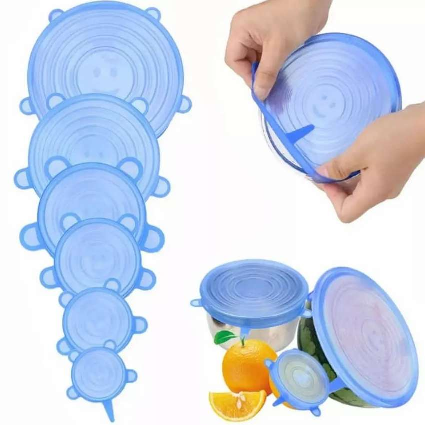 Plásticos tipo Tapas resistente para mantener frutas etc 6 piezas 0