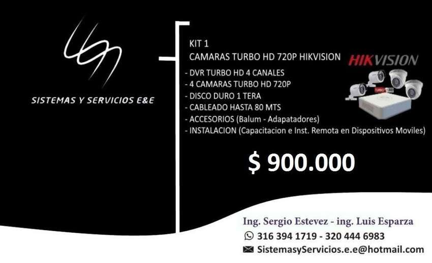 CAMARAS DE SEGURIDAD HIKVISION,KIT 1 ASESORIA INSTALACION DISPOSITIVOS MOVILES 0