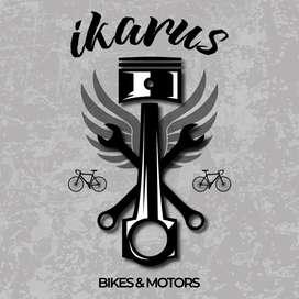 ¡reparación y mantenimiento de bicicletas y bicimotos!