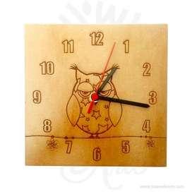 Reloj Buho en MDF - Precio COP