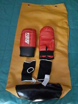 Kit Bolsa de Boxeo  Guantes  Protector
