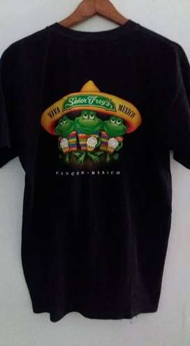 REMERA SEÑOR FROG'S CANCUN MEXICO TALLE M-L