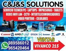 Servicio tecnico de Computadoras, Laptops,Impresoras, Camaras,Tablets,Redes.