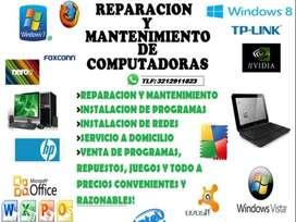 MANTENIMIENTO Y REPARACIONES DE COMPUTADORAS A DOMICILIO