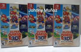 SUPER MARIO 3D ALL STARS NINTENDO SWITCH NUEVO SELLADO