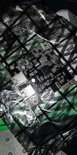 Tarjeta pci x1 USB 3.0