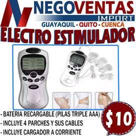 ELECTRO ESTIMULADOR DE 4 PARCHES EN OFERTA EXCLUSIVA UNICAMENTE AQUI EN NEGOVENTAS
