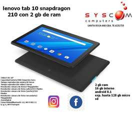 tablet lenovo 10 con 2 gb ram , promo hasta agotar stock