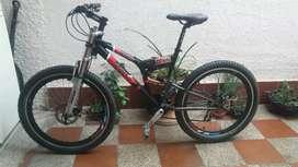 Bicicleta todo terreno doble suspensión marca Acor
