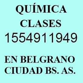Profesor de Quimica Particular en Nuñez cerca de barrios Belgrano Saavedra
