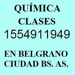 Profesor de Quimica Particular en Nuñez cerca de barrios Belgrano Saavedra 0