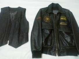 chaqueta piloto  top gun  original 100 %  cuero