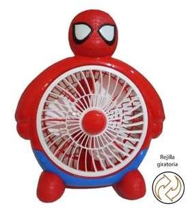 Ventilador Infantil De Mesa Hombre Araña Spiderman Niño