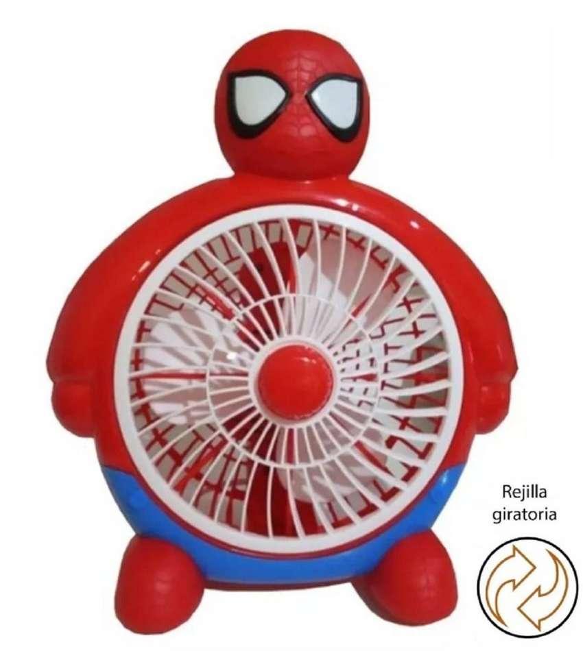 Ventilador Infantil De Mesa Hombre Araña Spiderman Niño 0