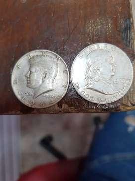Monedas half dollar 1962-1964