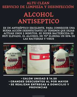 ALCOHOL ANTISEPTICO al 75%