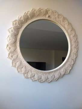 Espejo en macramé