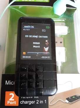 Reproductor MP3 creative zen 16 gigas videos música MP3 negro en buen estado larga duración de la pila portable pequeño