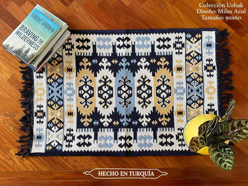 Tapete Kilim Diseño Ushak 90x60 cm - Milas