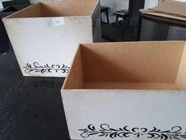 Cajas de Madera Pintada Vintage Livialnas precio por las DOS