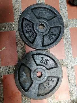 Discos de 25 lbs