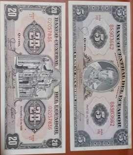 Se vende colección de billetes