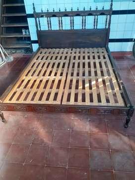vendo cama 2 plazas con o sin colchón