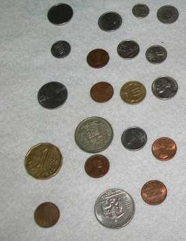 lote de 20 monedas extranjeras