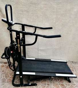 Caminadora mecánica plegable con twister y escalador