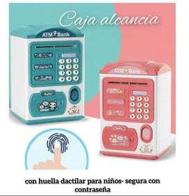 Alcancia electrónica con huella dactilar para niños, alcancía con contraseña ATM, caja para ahorro de dinero en efectivo