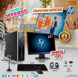 COMPUTADOR COMPLETO DE OFERTA + GARANTIA