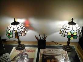 Veladores Estilo Tiffany antiguos.