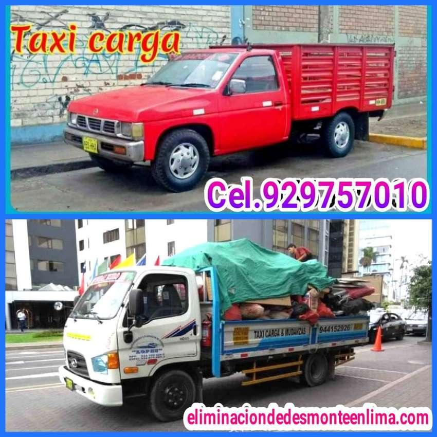 taxi carga y mudanza  eliminación de desmonte