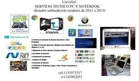 SERVICIO TECNICO PC,NOTEBOOK,NETBOOK,INSTALACION DE WINDOWS.LIMPIEZA DE VIRUS,DESBLok DE NETBOOK
