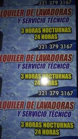 Alquiler de lavadoras y servicios técnicos