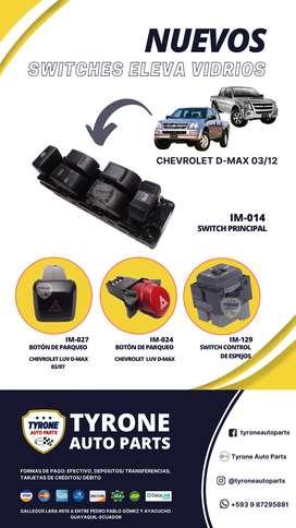 SWITCHES ELEVA VIDRIO CHEVROLET D-MAX 2003/2012