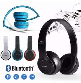 Audífonos Diadema P47 Bluetooth inalámbricos
