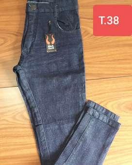 Jeans elastizado chupin talles 38 al 48