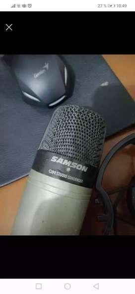 Vendo microfono condensador marca sanson