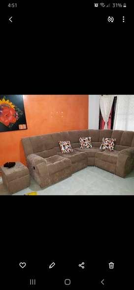 Juego de sala con silla reclinable