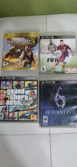 PACK DE 4 VIDEO JUEGOS PS3 PERFECTO ESTADO